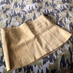 Ann Taylor Loft  buttery yellow suede skirt